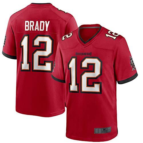 SBAN Camiseta de fútbol americano personalizada Tom Tampa Bay NO.12 Rojo, Brady Buccaneers Vapor Limited Jersey transpirable sudadera para hombres