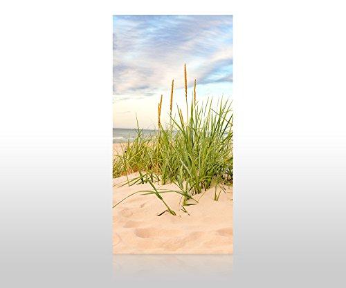 wandmotiv24 Duschrückwand Strand 100 x 200cm (B x H) - Acrylglas 4mm Duschwand Design, Wanddeko für Dusche & Bad, Fliesen-Abdeckung, Deko-Set Duschkabine M0927