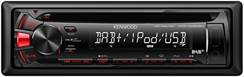 Kenwood Electronics KDC-DAB35U Negro 200W receptor multimedia para coche - Radio para coche (Negro, 1 DIN, 200 W, 4.0 canales, 50 W, CD)