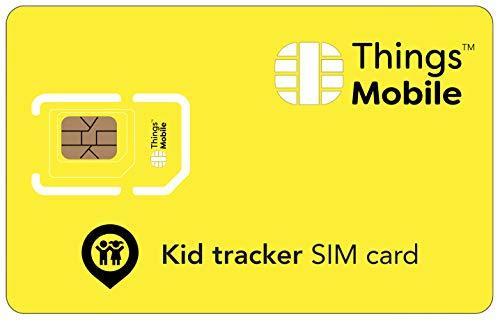 Tarjeta SIM para SMARTWATCH / RELOJ INTELIGENTE PARA NIÑOS - Things Mobile - cobertura global, red multioperador GSM/2G/3G/4G, sin costes fijos, sin vencimiento. 16€ de crédito incluido