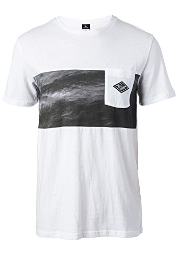 RIP CURL 2017 Combine Tee Optical White CTEUU4 Sizes- - ExtraLarge