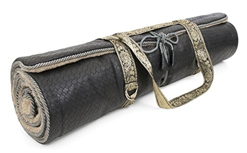 Holistic Silk Yogamatte Black
