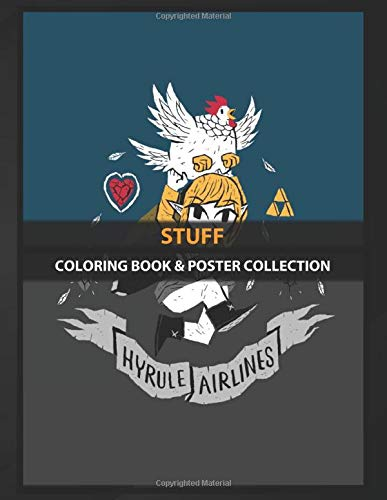 Coloring Book & Poster Collection: Stuff Hyrule Airlines Gaming