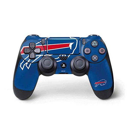 Skinit Decal Gaming Skin for PS4 Pro/Slim Controller - Officially Licensed NFL Buffalo Bills Large Logo Design