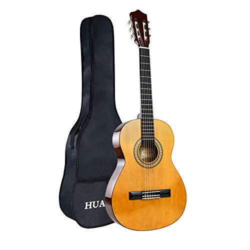 Classical Guitar Acoustic Guitar 3/4 Size Guitar 36 Inch Nylon Strings Guitar For Beginners Adults With Bag