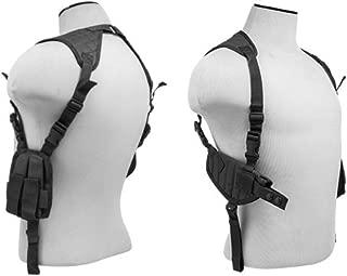M1SURPLUS Black Adjustable Ambidextrous Shoulder Holster with Mag Pouches fits CZ 75 97 CZ P-01 P-09 P-10 P-07 SP-01 AccuShadow Shadow 2 Pistols