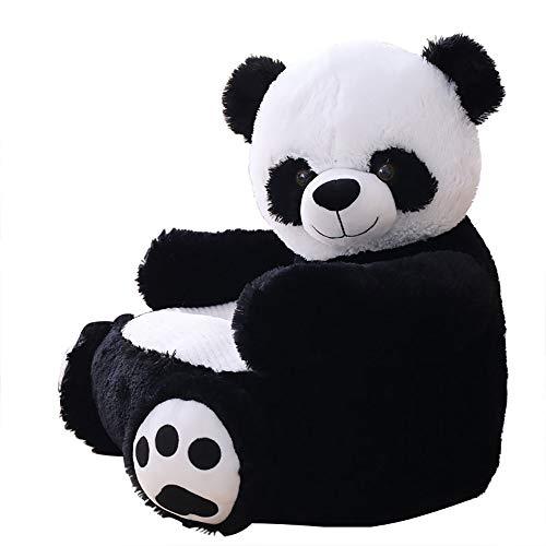 Tickos Sofá Bebé Felpa Unicornio Sillón Mullido Animal Silla Amortiguar Relleno Animal Juguete Muñeca (Panda)