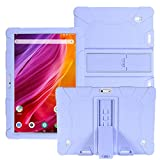 HminSen Case for Dragon Touch Notepad K10 / Max10 Tablet, Silicone Stand Cover Compatible Dragon Touch K10, Victbing 10, ZONKO 10.1,Hoozo 10, Winsing 10, Lectrus 10.1 Android Tablet (Light Purple)