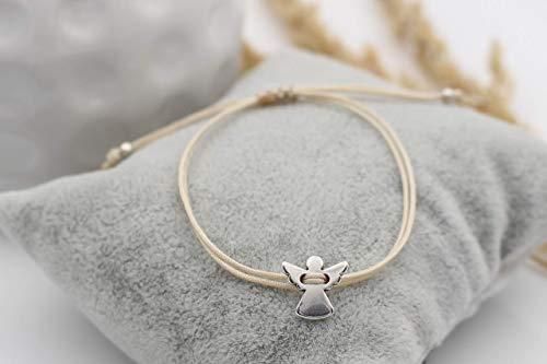 Schutzengel Armband Farbe silber, Makramee viele Farben erhältlich, Geschenk, filigran