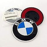 Emblema para BM W 82 mm E81 E87 E87LCI F07 F07GT LCI F10 F11 F13 E63 E64 F06