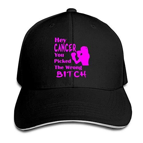 Hola Cáncer, elegiste Las Gorras clásicas incorrectas del Sombrero del algodón 100% Gorra de béisbol de la Moda Unisex Sombrero Ajustable de Hip Hop