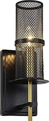 Hertorod Industrial Wall lamp Wall lamp Lighting Fixture, Black Bedroom Bedside Wall lamp, UL Restaurant for Dining Room, Kitchen, Bedroom, Wall lamp, Bathroom Sink lamp, Industrial Hand wash lamp
