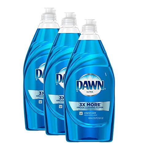 Dawn Ultra Liquid Dishwashing Dish Soap, 3X More Platinum Advanced Power Clean - 24 Fl oz x 3 Count (Total 72 Fl oz)