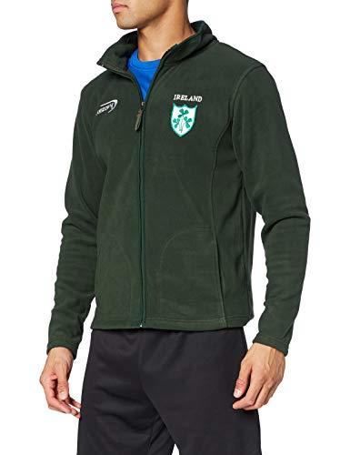 Lansdowne Sports Official Collection Herren Bottle Green Full Zip Fleece-Jacke, grün, M
