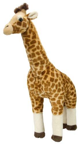 Wild Republic 12386 - cuddlekins giraffe staand, groot, pluche dier, 64 cm