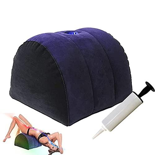 Almohada Inflable Cojín semicircular, cojín de posicionamiento, posición más Profunda, Soporte para Pendientes, Muebles con Bomba de Aire