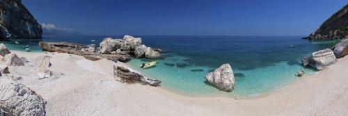 Beach at Cala Mariolu bay, Province of Nuoro, Sardinia, Italy Giclee Art Print Poster or Canvas