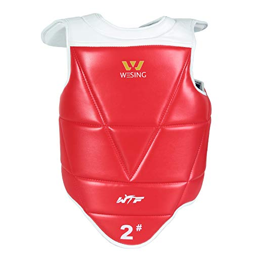 Wesing WTF Approved Taekwondo Chest Protector Taekwondo Solid Reversible Chest Guard Body Protector