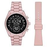 Michael Kors Smartwatch Gen 5 Bradshaw 2 con Pantalla táctil con Correa de Aluminio Rosa para Mujer MKT5098