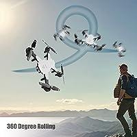 フライトRCドローンギフト折りたたみ式ドローン高高度写真圧力ストレスを軽減(white, 1080P optical flow, Insect)