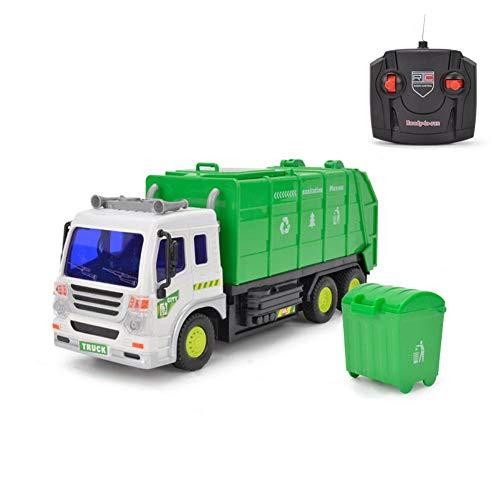Coche de control remoto - 1:16 Camión de saneamiento de cuatro vías verde