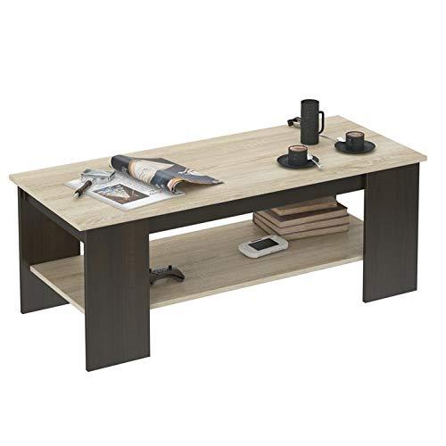 Framire A-4 Kaffeetisch, Tisch für das Wohnzimmer, Eiche Sonoma Mix Wenge Eiche, 50x120x45