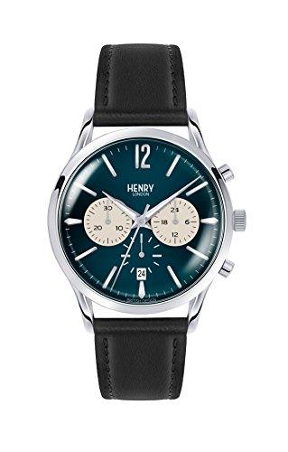 Henry London Reloj Analógico para Unisex de Cuarzo con Correa en Cuero 5018479078173