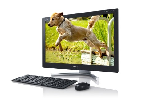Sony VAIO SVL2412M1EB 60,7 cm (24 Zoll Touch) All-in-One Design Desktop PC (Intel Core i5 3210M, 2,5GHz, 8GB RAM, 1000GB HDD, NVIDIA GT 620M (2GB), Blu-ray, Win 8) schwarz