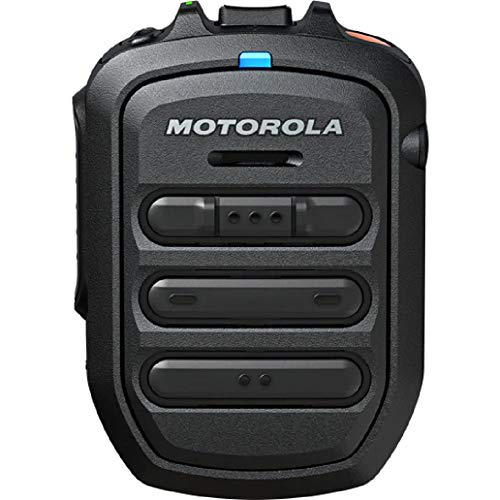 WM500 Bluetooth Remote Speaker Microphone Kit# PMMN4127 which Includes USB Charging Cable - Compatible with TLK100 & TLK150 PoC Two Way Radios - by Motorola Solutions