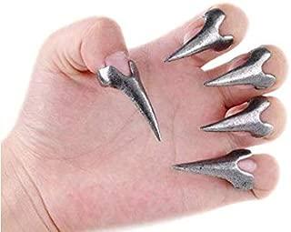 DUANMEINAD Wholesale 10pcs Hot Retro Punk Rock Gothic Talon Nail Finger Claw Spike Rings Nail Art Decoration