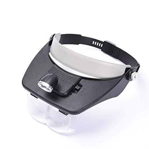 BIKEX Vergrootglas Met Lamp LED Licht Lezen Vergrootglas koplamp Lens Schakelbaar Verstelbare Hoofdband Voor Horloge Reparatie, Handwerk