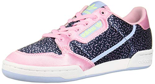 adidas Originals Women's Continental 80 Sneaker, True Pink/Collegiate Navy/Glow Blue, 10 M US