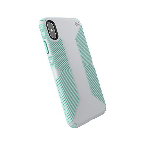 Speck Products Presidio Grip iPhone Xs Max Case, Dolphin Grey/Aloe Green