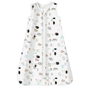 Mosebears Saco de dormir para bebé de verano 0.5 tog Saco de dormir para bebé 100% algodón Saco de dormir para bebé transpirable (Spotcat, XL (18-24 meses))