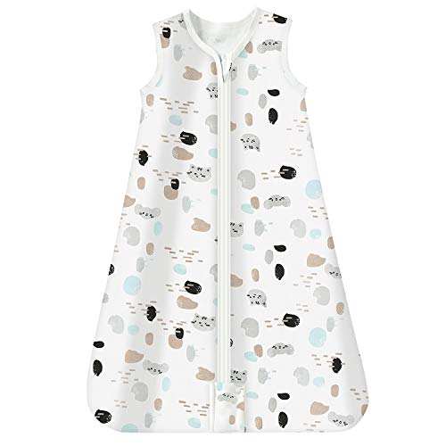Mosebears Saco de dormir para bebé de verano 0.5 tog Saco de dormir para bebé 100% algodón Saco...