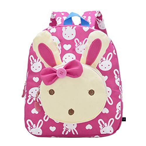 GWELL 3D Bunny Babyrucksack Kindergartenrucksack Kindergartentasche Backpack Schultasche Kinder Mädchen Gelbrot