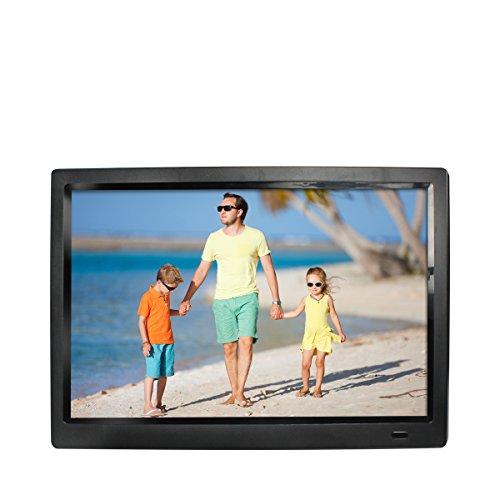 """Rollei Gauguin DPF-13.3"""" Full HD - Digitaler Multimedia Bilderrahmen mit 13,3"""" (33,78 cm) IPS Panel, Bild-, Video-, Musik-, Kalender- und Uhr-Funktion, inkl. Fernbedienung - Schwarz"""