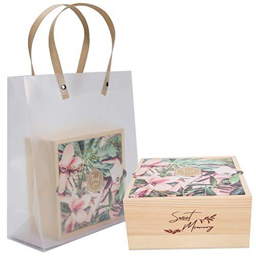 XiangXin Bolsa de Embalaje, Caja de Regalo de Boda, Embalaje de Madera Bolsa de Embalaje de Regalo para Boda Caja de Dulces de Fiesta(Huayu)