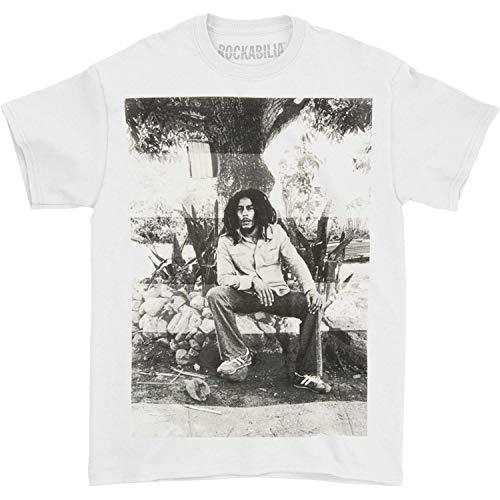 Bob Marley Men's Pondering T-Shirt Medium White