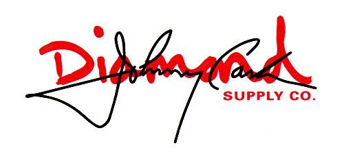 Diamond Supply Co. X Johnny Cash – Script Blanc/Rouge Skateboard Autocollant – 12.5 cm de Large Environ Skate SK8 Skateboarding Neuf pour Guitare