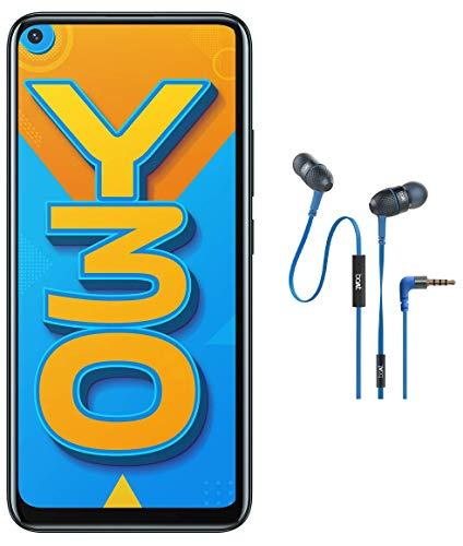 Vivo Y30 (Emerald Black, 4GB RAM, 128GB Storage) with Boat Wired Earphones