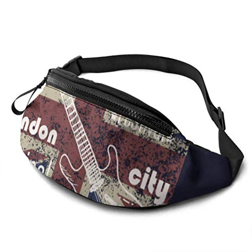 JOCHUAN Runners Fanny Pack Women London Symbols with Elizabeth Tower (big Ben) Girls Fanny Pack with Jack Headphone and Adjustable Straps A Fanny Pack for Women for Travel Sports Hiking