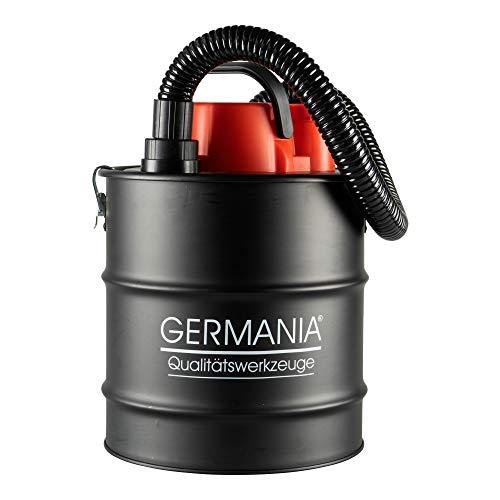 Germania Aschesauger 20 Liter aus Stahl mit 1200 W Motor & HEPA-Filter für Kamine, Öfen & Grills