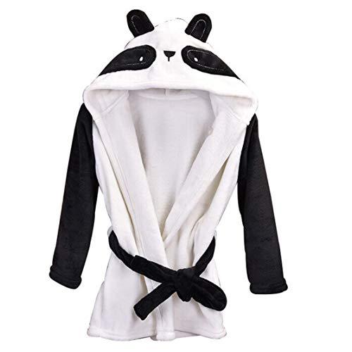 wetry - Panda Bademantel für Baby Kinder 1-5 Jahre alt