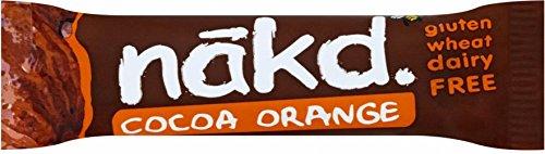 Nakd Libre De La Naranja De Cacao Multipack 4 X 35g (Paquete de 6)