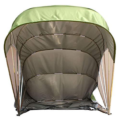 LiChenY Tragbare Garage im Freien Pavillon Carport, Halbautomatischer Mobiler Klappgaragen Home Carport Anti-UV Schutz Wind Schnee Hochleistungs Stahlrahmen Schutzgarage