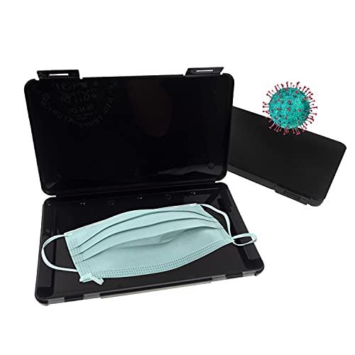 L+H 2X Maskenbox für Mundschutz im Set | Aufbewahrungsbox für Masken | Maskenboxen ideal zur Aufbewahrung von Masken zur Vermeidung von Maskenverschmutzung | Perfekt für Unterwegs Schule Büro