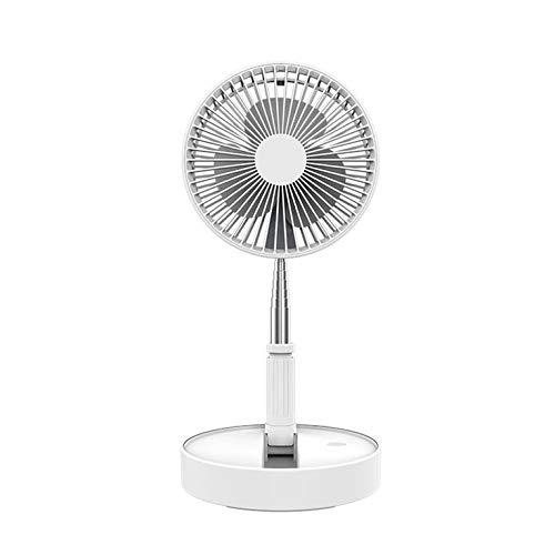 Blanco de cuatro velocidades de almacenamiento portátil elástico eléctrico para el hogar escritorio de aterrizaje un ventilador pequeño plegable portátil de viaje