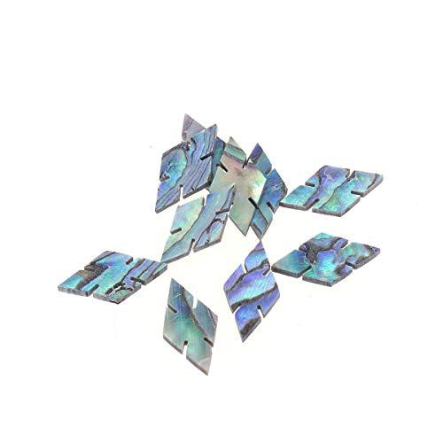 Musiclily Pro 14,5mm Natural Paua Abalone Shell Marcador Copo de Nieve de Diamantes Diapasón de Puntos Guitarra Inlay Dots((Juego de 10)
