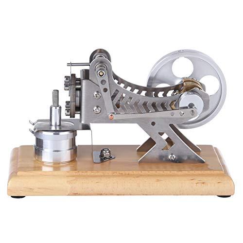 ChengBeautiful Modelo del Motor del Motor Placa de Base de Madera Maciza DIY All-Metal Vacuum Stirling Motor Stem Steam Model Set DIY Science (Color : Silver, Size : One Size)